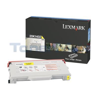 LEXMARK C510 TONER CART YELLOW 6.6K